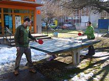 Ping pong na sněhu